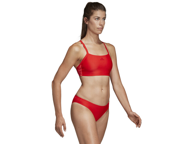 42cbfe4c4 adidas Fit 3-Stripes Infinitex Bikini Women active red